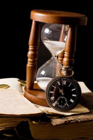 reloj de arena: El reloj de arena y el libro - la vendimia