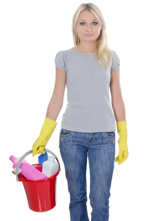 The portrait of girl - concept Cleaning Stock Photo - 10574868