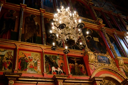 Interior of orthodox church at Moscow Kremlin