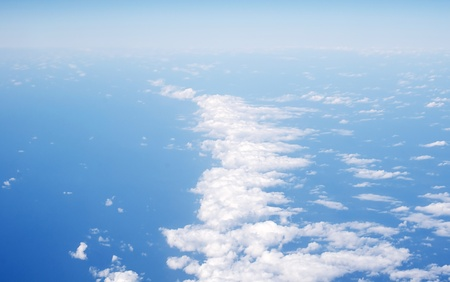 View above the earth at the clouds photo
