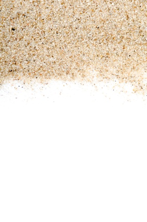 rest in peace: The sand scattering isolated on white background Stock Photo