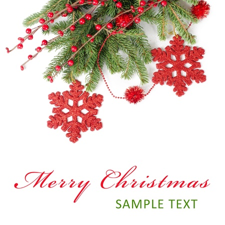 The christmas and New Year Border  isolated Stock Photo - 11123102