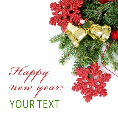 The christmas and New Year Border  isolated Stock Photo - 11123120