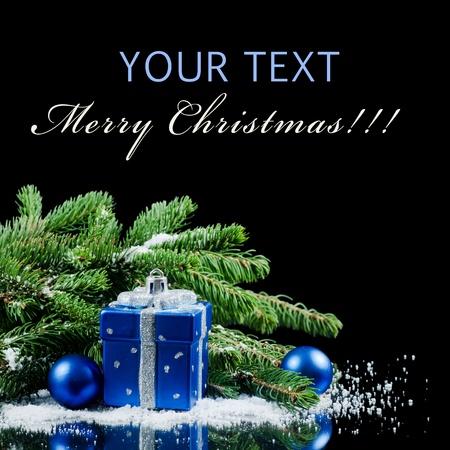 Weihnachten und Neujahr Border auf schwarz