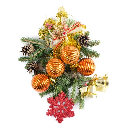 The christmas and New Year Border  isolated Stock Photo - 11210412
