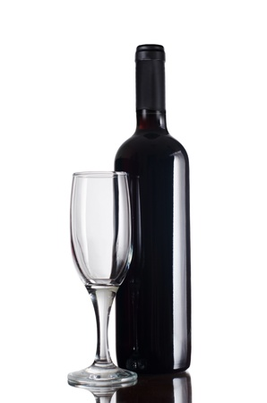Red wine glass isolated on white background Stock Photo - 11210288