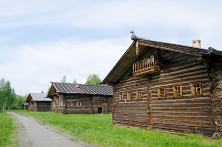 peasantry: Old wooden house in north Russia. Arkhangelsk
