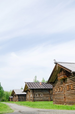Old wooden house in north Russia. Arkhangelsk photo