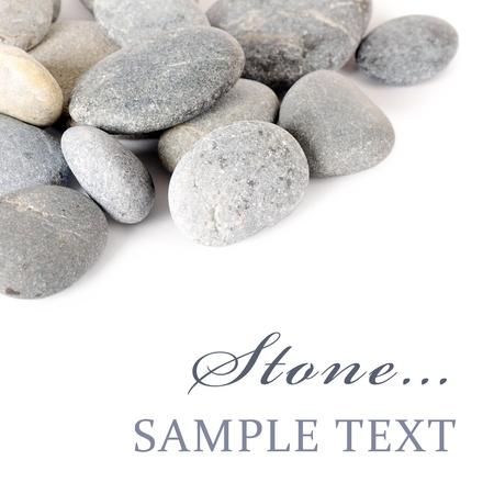 spa stone: Group of Steine ??isoliert auf wei�em Hintergrund