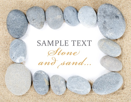 simple life: The stones on sand isolated on white