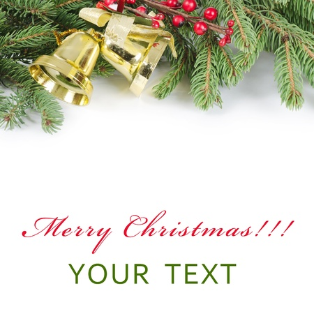 The christmas and New Year Border  isolated photo