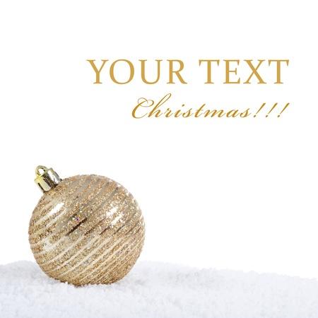 christmas tree ball: The christmas tree ball in snow isolated Stock Photo