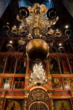 kremlin: Interior of orthodox church at Moscow Kremlin