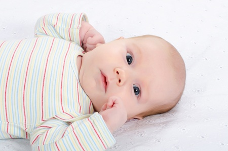 Portrait of the child on a bed Stock Photo - 11708524