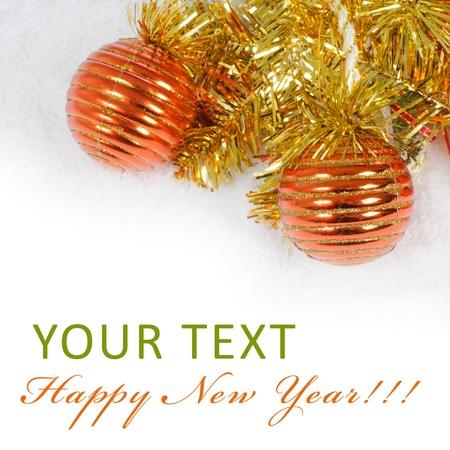 The christmas tree ball sa a background Stock Photo - 11708530