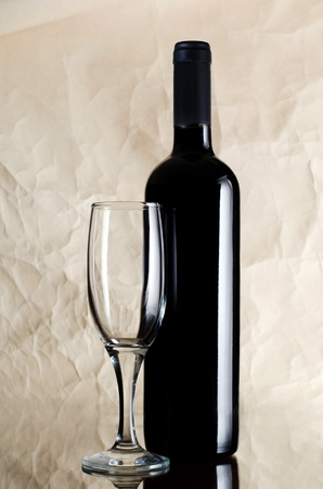 Red wine glass on vintage a background Stock Photo - 11708800
