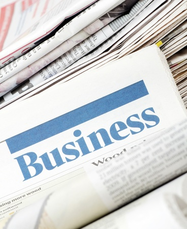 The business newspaper photo