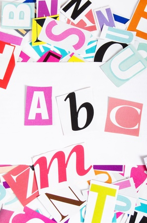 The letters which have been cut out from newspapers Stock Photo - 12134838