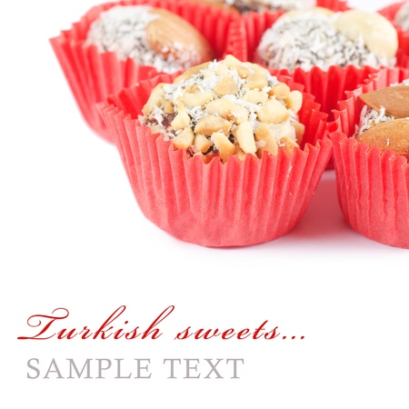 turkish delight: The turkish delight isolated on white background