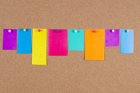 collection of various note papers on corkboard Stock Photo - 12457201
