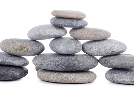stack rock: Group of stones isolated on white background