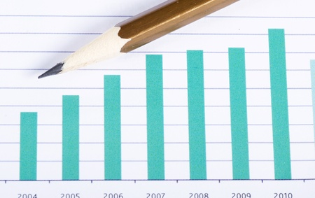 Graphs, charts, business table. The workplace of business people. Stock Photo - 12458009