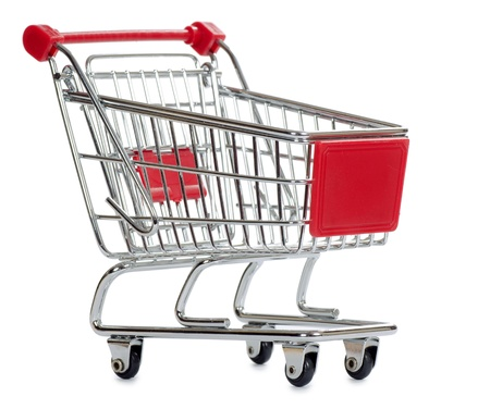 The shopping cart  isolated on white background Stock Photo - 12458826