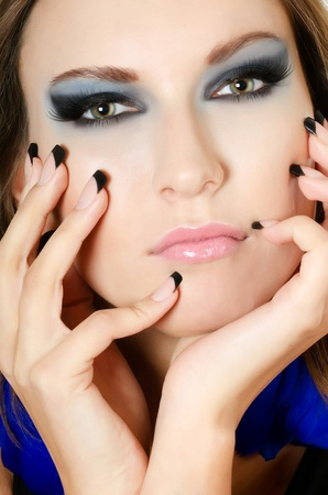 The face of girl with beautiful make-up