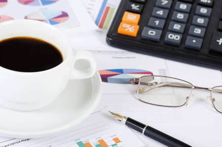 Coffee and the fresh newspaper - morning of the businessman Stock Photo - 12458972