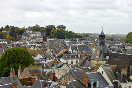 hdri: Rooftops in Amboise. Beautiful medieval village Amboise, Loire Valley, France, Europe Stock Photo