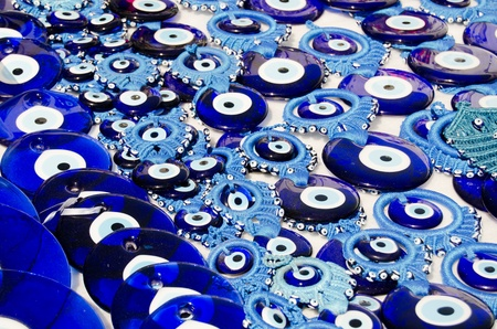 Blue Evil Eye Charms Sold ,  Turkey Stock Photo - 12856763