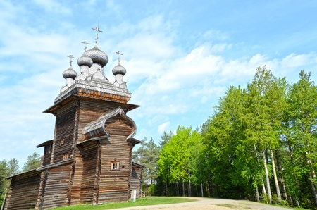 Wooden churches in the north Russia. Arkhangelsk photo