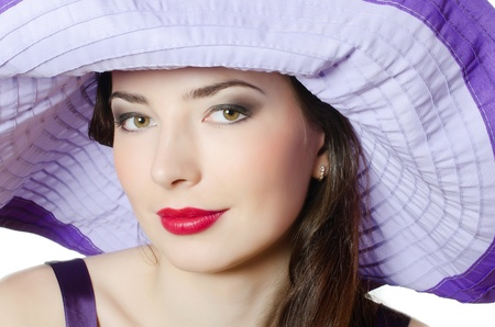 Portrait of beautiful elegant woman in hat photo