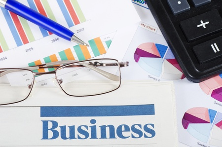 franchise: Business the newspaper with chart