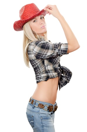 cowgirls: The beautiful girl in a cowboys hat