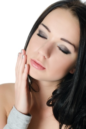 The young beautiful girl with Evening make-up Stock Photo - 13079106