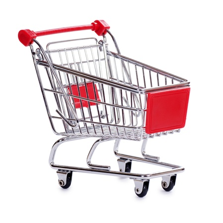 The shopping cart  isolated on white background photo