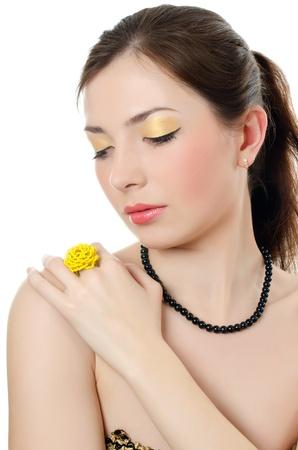 Portrait of elegant girl with evening make-up Stock Photo - 13079037