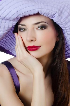 Portrait of beautiful elegant woman in hat Stock Photo - 13079162