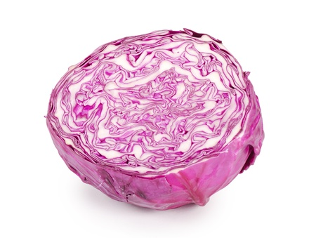 The red cabbage isolated on white background Stock Photo - 12984815
