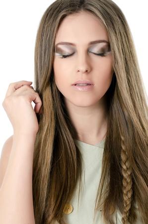 Portrait of beautiful girl - Creative make-up Stock Photo - 13079191