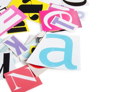 The letters which have been cut out from newspapers Stock Photo - 13287593