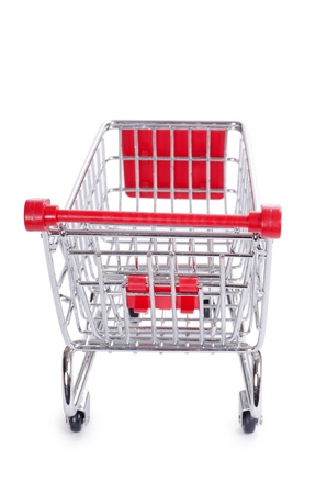 The shopping cart  isolated on white background photo