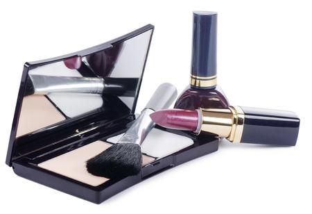 Face make-up set  isolated on white background Stock Photo - 13632876