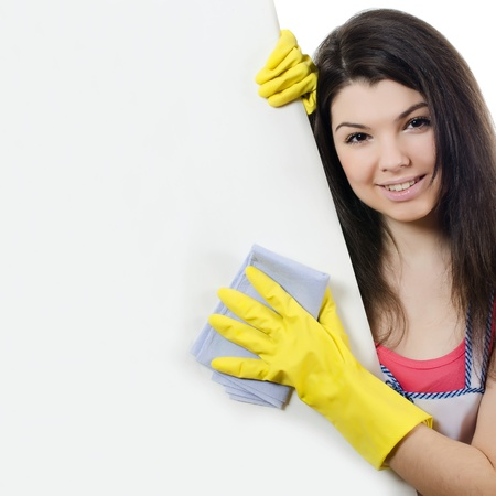 clean hand: The portrait of girl - concept Cleaning
