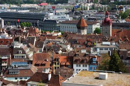 Panoramic view of  Lucerne Switzerland photo