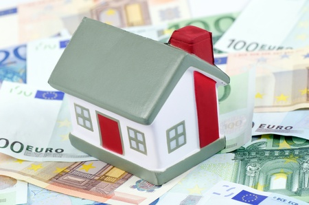 toy house for euro banknotes as background Stock Photo - 13756583