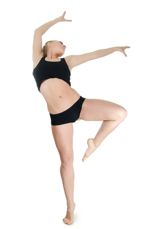 The girl the trainer on dances isolated Stock Photo - 13905556