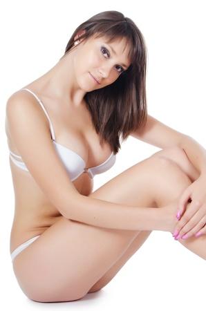 hot breast: Портрет девушки в нижнем белье