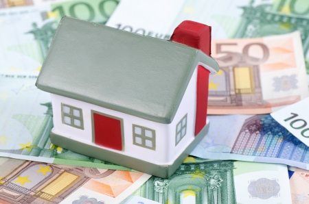 toy house for euro banknotes as background Stock Photo - 13907327